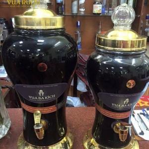 Bình rượu ba kích thủy tinh